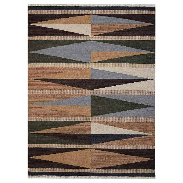 Clarence Hand-Woven Wool Brown/Gray Area Rug by Loon Peak