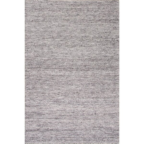 Erath Hand-Woven Wool Gray Area Rug by Gracie Oaks
