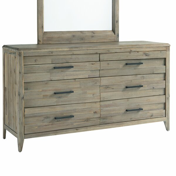 Descartes 6 Drawer Double Dresser with Mirror by Laurel Foundry Modern Farmhouse