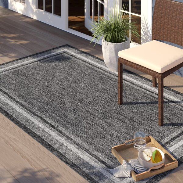 Denning Black Indoor/Outdoor Area Rug by Sol 72 Outdoor