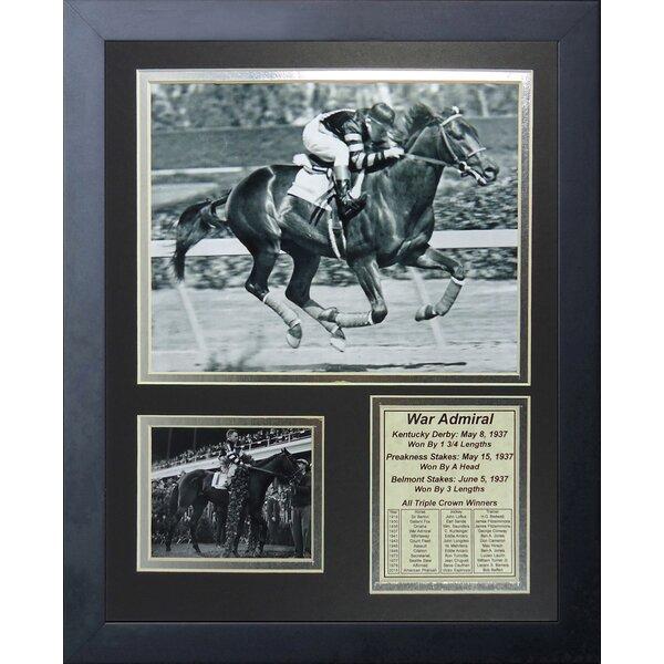 War Admiral 1937 Triple Crown Winner Framed Memorabilia by Legends Never Die