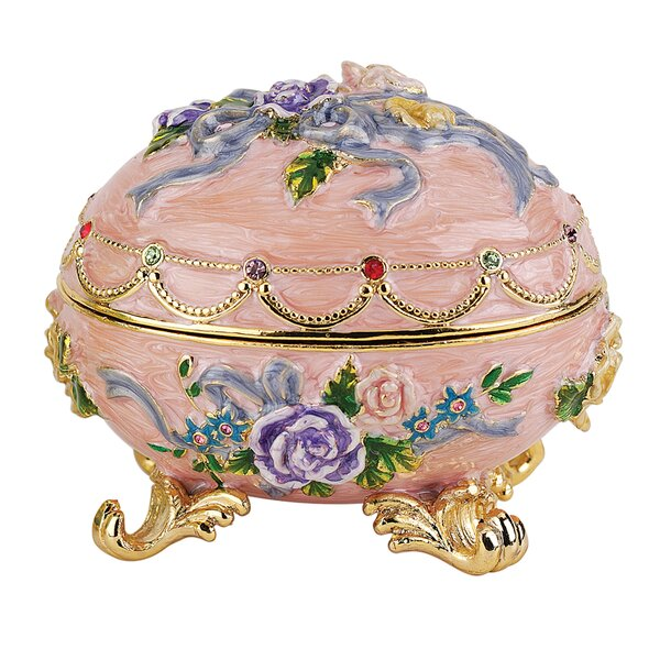 Renaissance Faberge Style Enameled Egg Couleur Rose by Design Toscano
