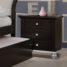 Johnny 3 Drawer Nightstand by House of Hampton