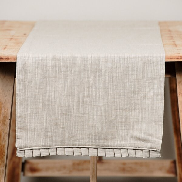 Ruffled Table Runner by Glory Haus