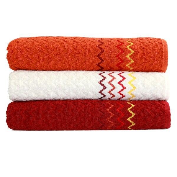 Montauk Zig Zag Turkish Cotton Bath Towel (Set of 3) by Linum Home Textiles