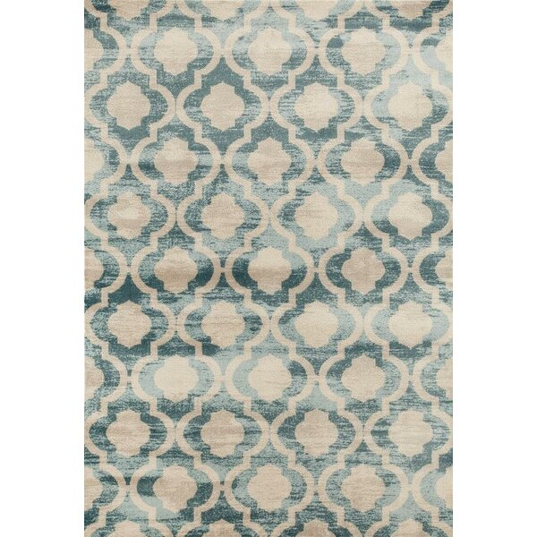 Mills Blue/Beige Area Rug by World Menagerie