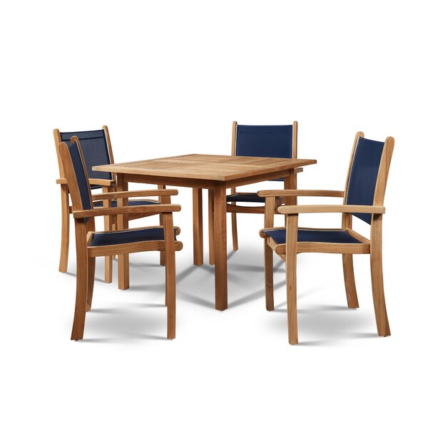 Pearl 5 Piece Sunbrella Dining Set by HiTeak Furniture