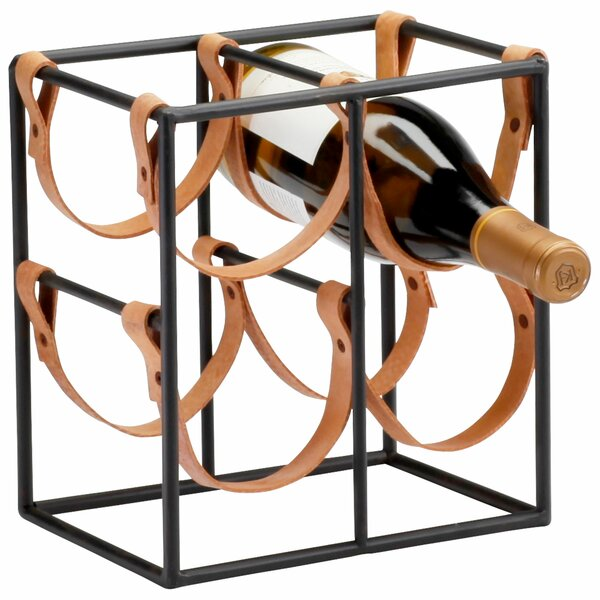 Small Brighton 4 Bottle Tabletop Wine Bottle Rack by Cyan Design Cyan Design