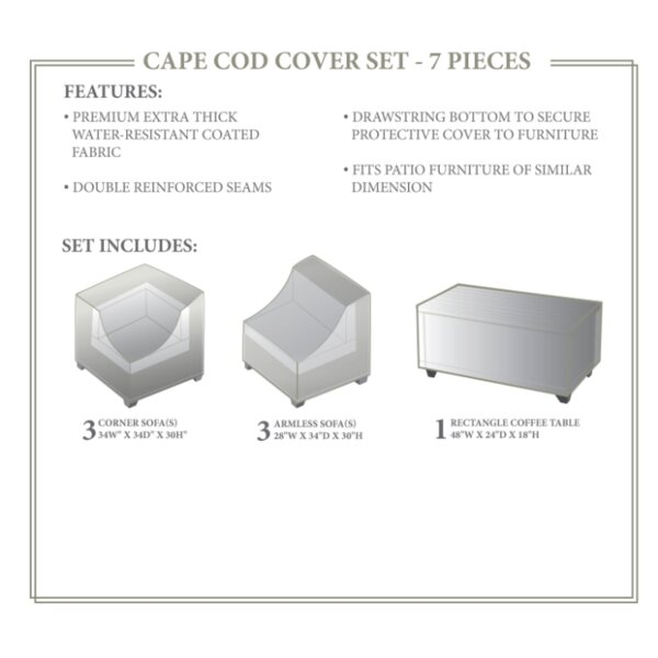 Cape Cod Winter 7 Piece Cover Set by TK Classics