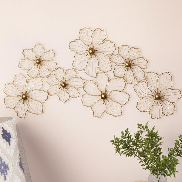 Flowers Metal Wall Decor by Latitude Run