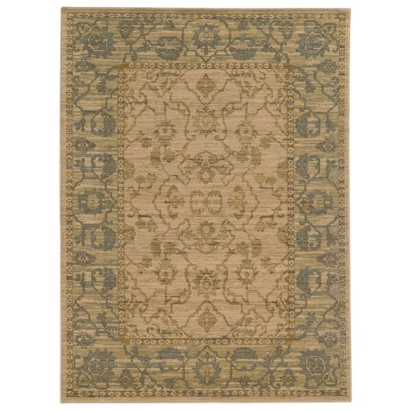 Tommy Bahama Vintage Power Loom Wool Sage/Beige Rug