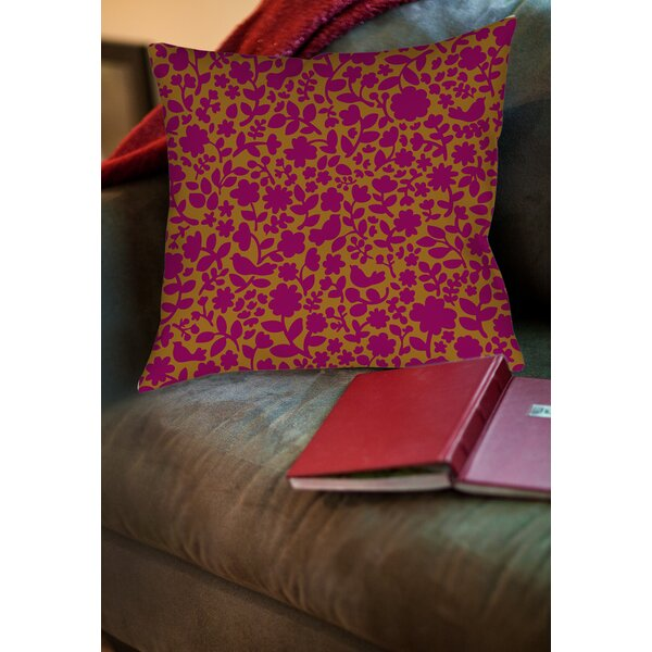 Ambrose Bird Printed Throw Pillow by Manual Woodworkers & Weavers