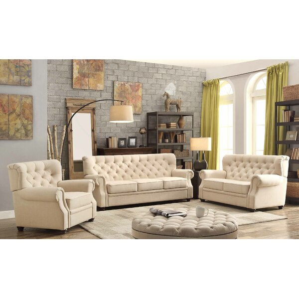 Asaro 3 Piece Living Room Set by Lark Manor