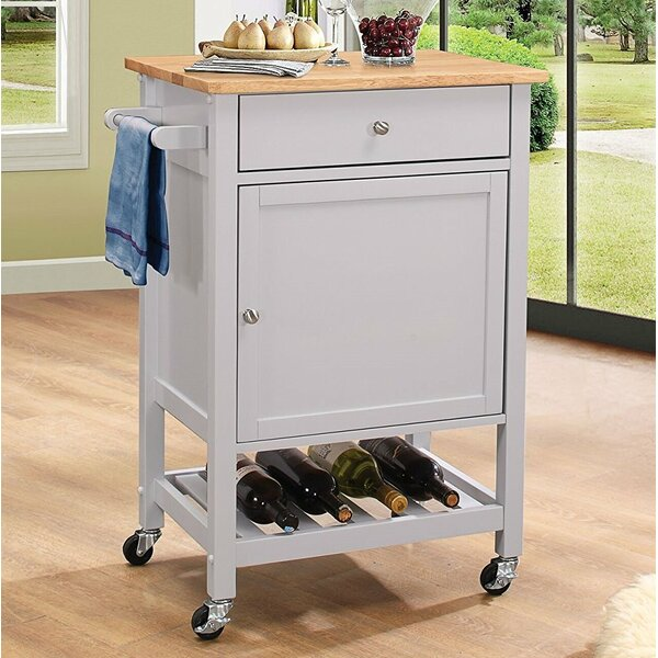 Kuntz Wheeled Kitchen Cart by Alcott Hill