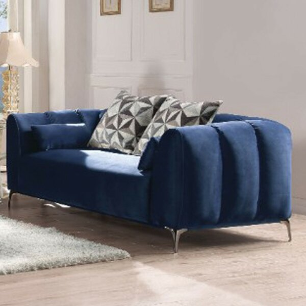 Modern Beautiful Valenzuela Upholstery Loveseat by Mercer41 by Mercer41