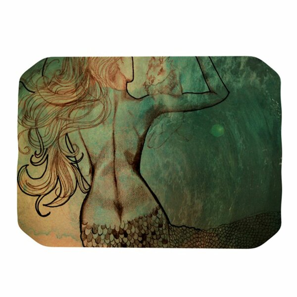 Poor Mermaid Placemat by KESS InHouse