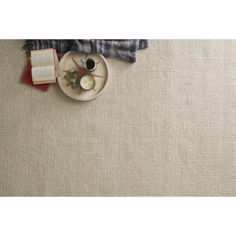 Gracie Oaks Rabon Hand Knotted Wool Tan Area Rug Wayfair