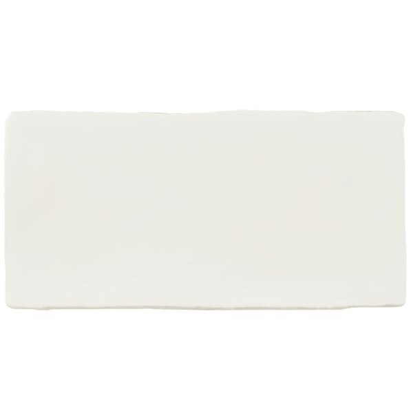 Tivoli 3 x 6 Ceramic Subway Tile in Matte White by EliteTile