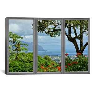 Hawaii Window View Photographic Print on Wrapped Canvas by iCanvas