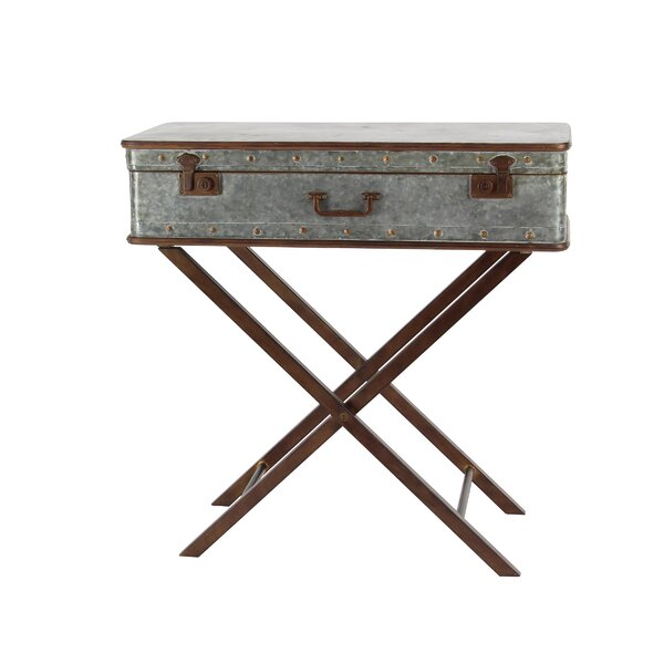 Laforce Rustic Iron Box End Table by Williston Forge