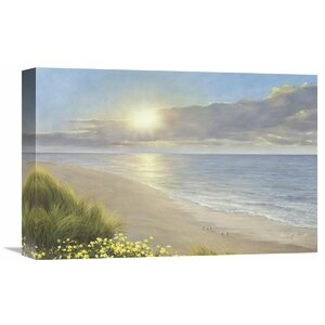 'Beach Serenity' by Diane Romanello Painting Print on Wrapped Canvas by Global Gallery