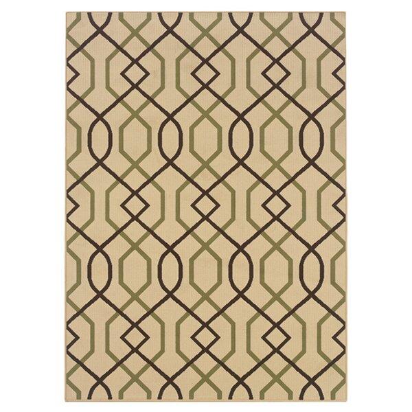 Newfield Ivory/Brown Indoor/Outdoor Area Rug by Threadbind
