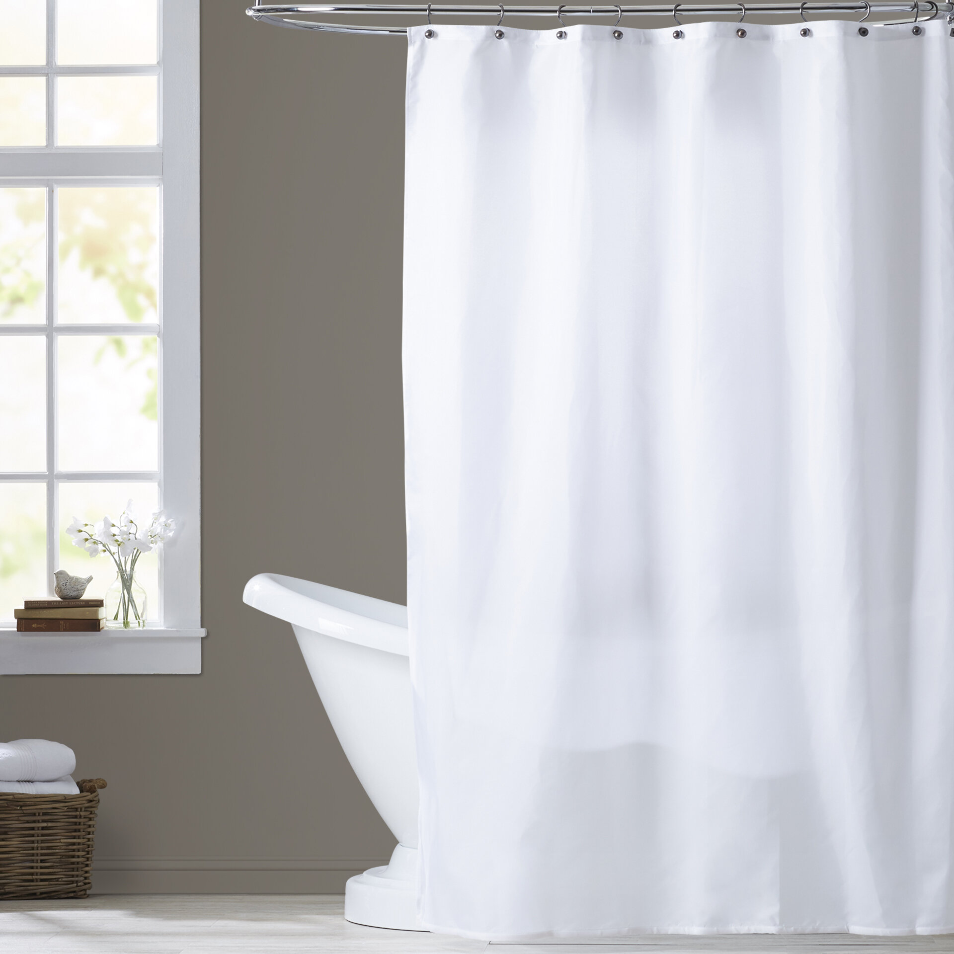 Shower Curtain Liners Odorless Magnetized Heavy Gauge Peva Extra Long Peva Shower Curtain Liner 84 Long White Reinforced With Metal Grommets Home Bwwisniewscy Pl