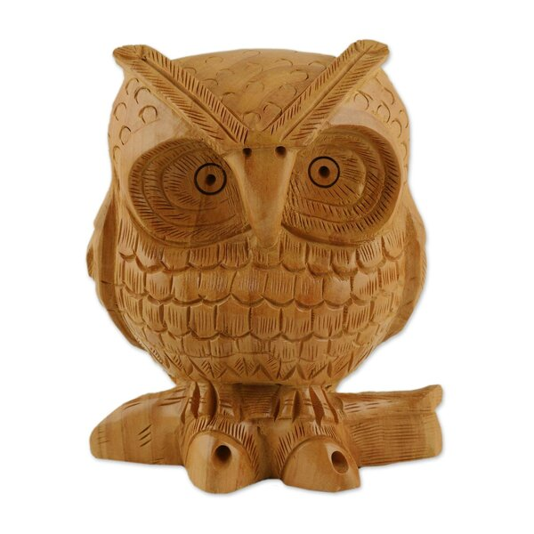 Cranleigh Fabled Owl Wood India Statue by World Menagerie