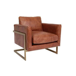 Delightful Cavin Leather Lounge Chair