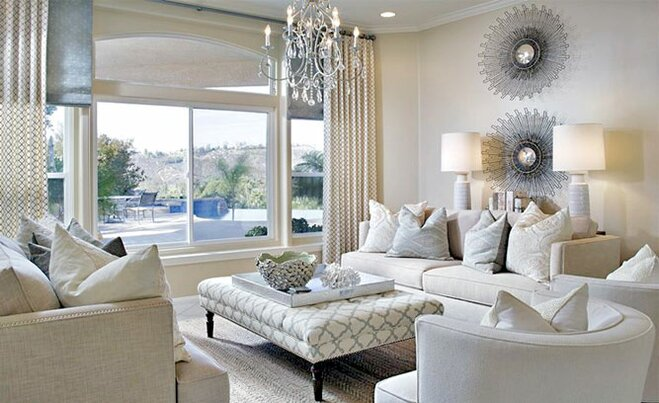 Glam Living Room Decor | Wayfair