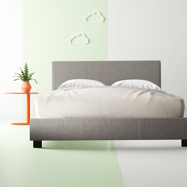 Creager Upholstered Platform Bed by Hashtag Home