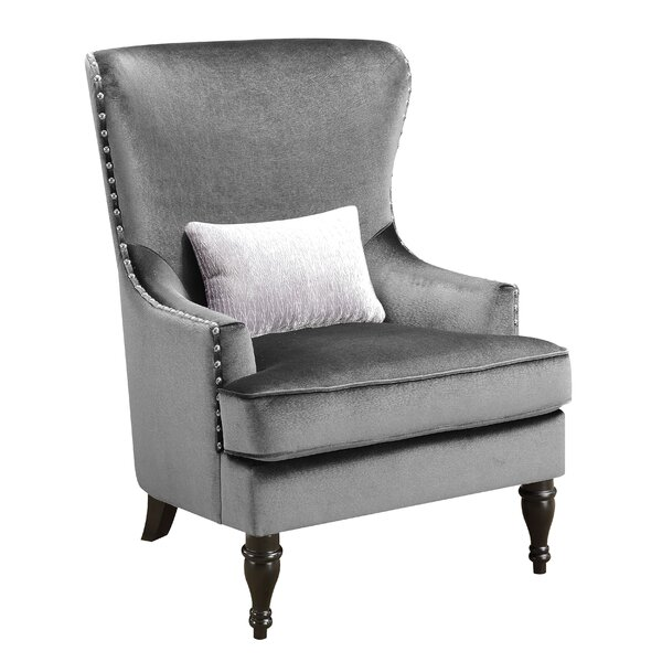 Treshon Wingback Chair by Everly Quinn Everly Quinn