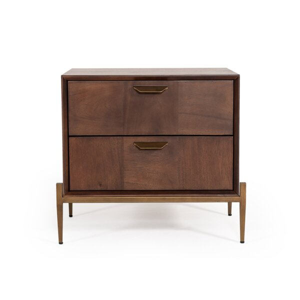 Palmona 2 Drawer Nightstand by Wrought Studio
