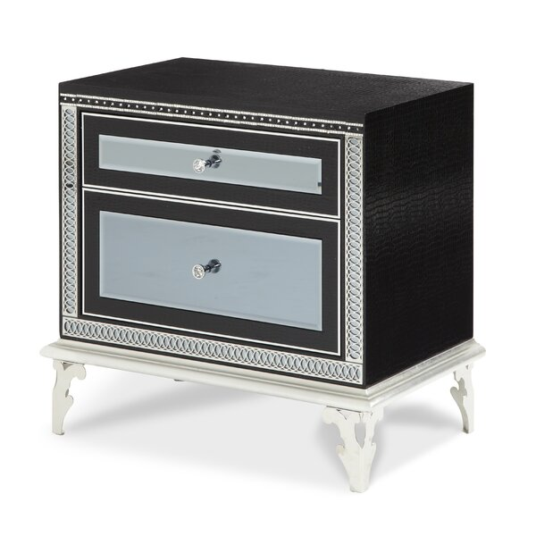Hollywood Swank Starry Night 2 Drawer Nightstand by Michael Amini