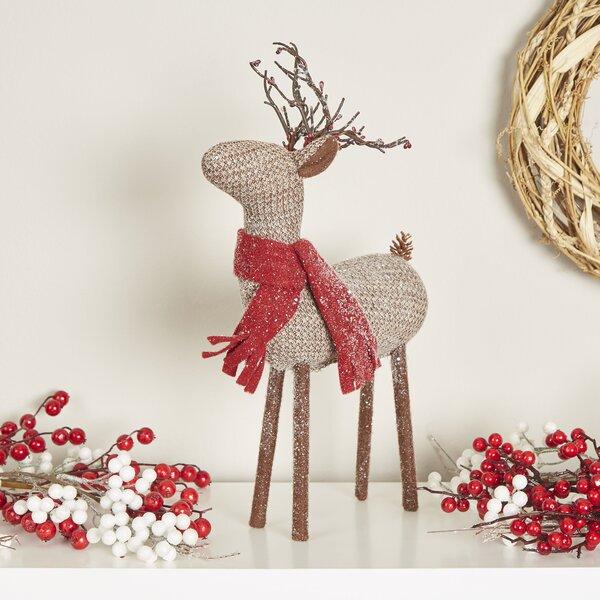 Glittering Reindeer Decor by Birch Lane™