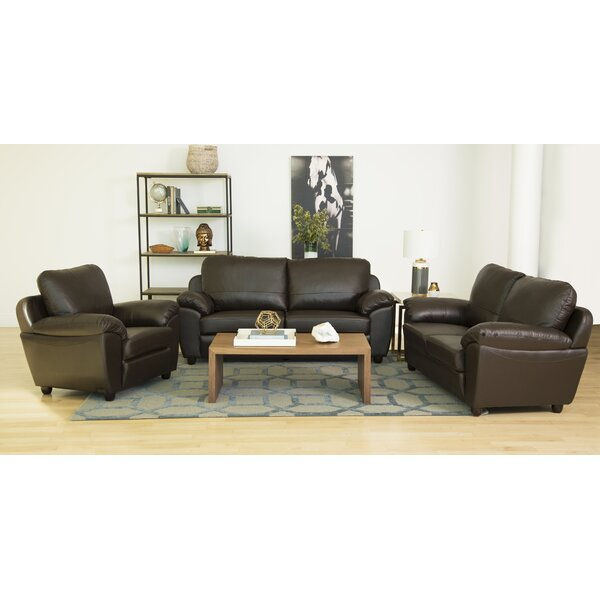 #2 Oreilly 3 Piece Leather Living Room Set By Red Barrel Studio Great price