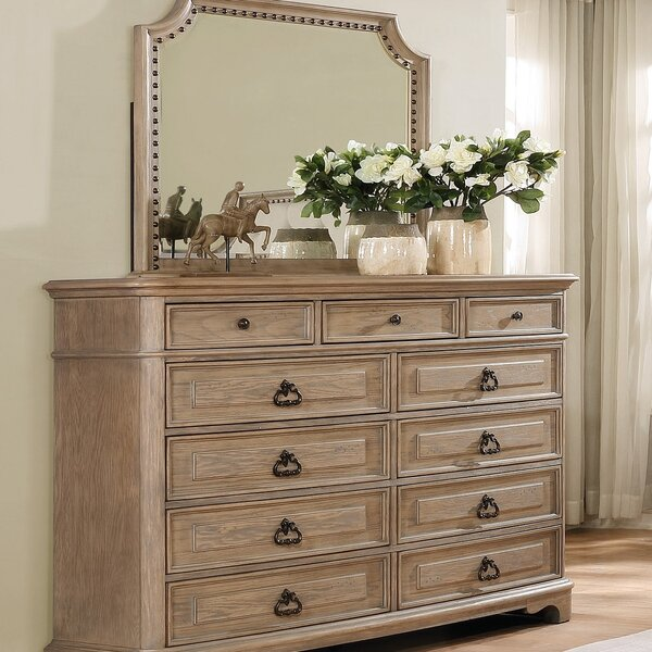 Pennington 11 Drawer Dresser with Mirror by One Allium Way