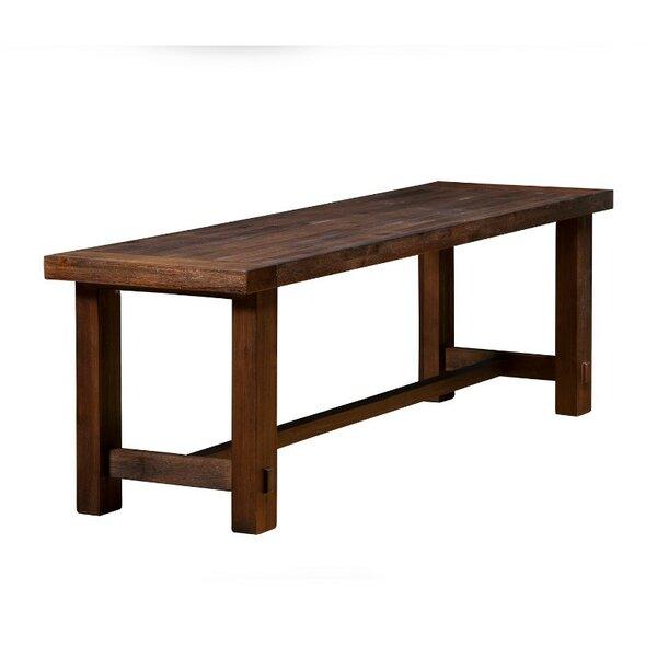 Wilner Rectangular Wood Bench by Loon Peak