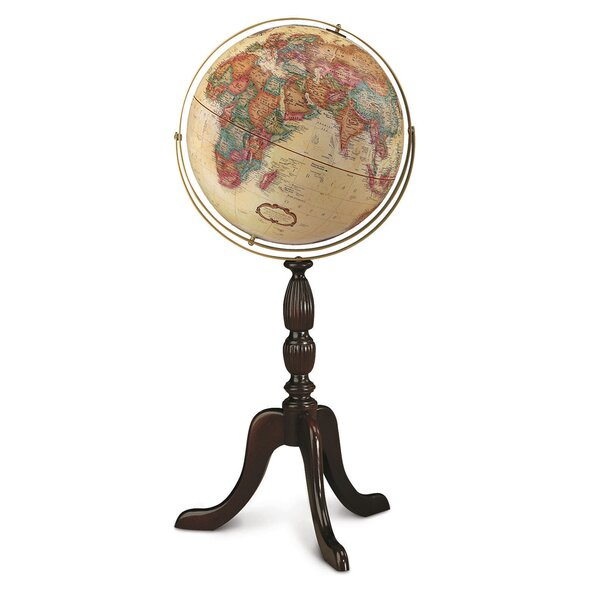 Cambridge 16 Antique Walnut World Globe by Replogle Globes