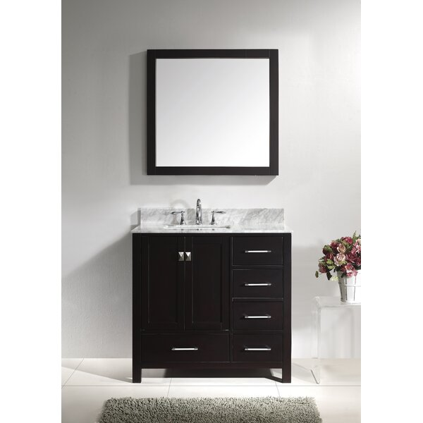Borough Park 37 Single Bathroom Vanity Set with Mirror by Brayden Studio
