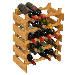 Dakota 20 Bottle Floor Wine Rack by Wooden Mallet