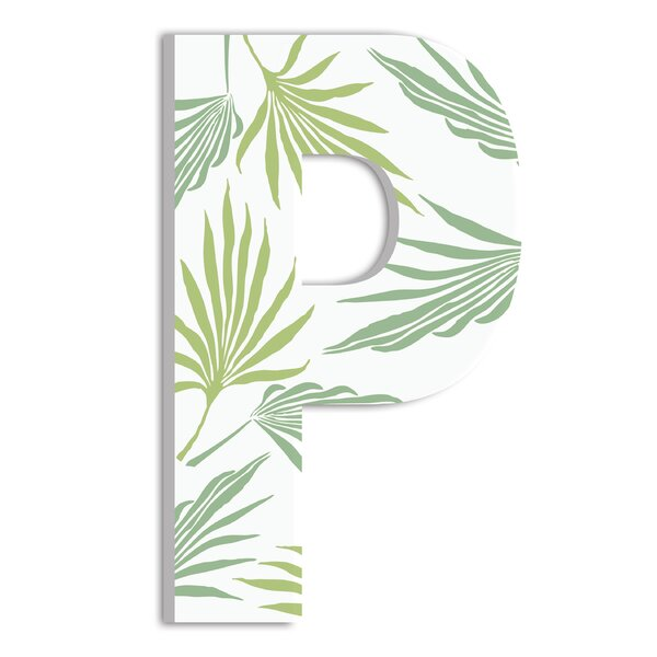 Tropical Leaves Oversized Hanging Initial by Stupell Industries