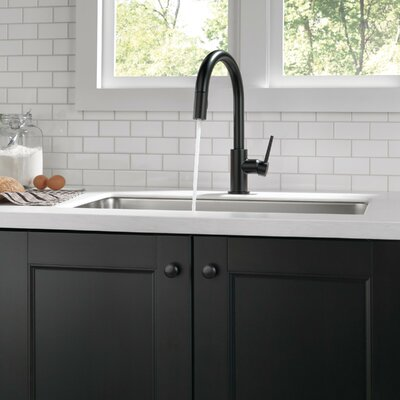 Kitchen Faucet Single Handle Docking Seal Matte Black photo