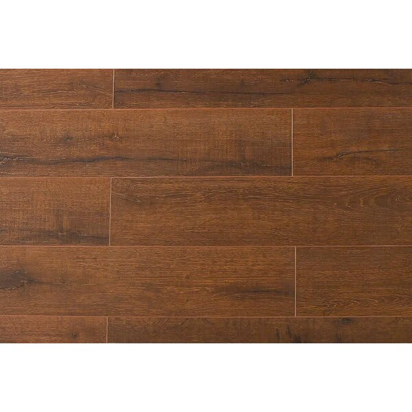 Jeramiah 7 x 48 x 12mm Oak Laminate Flooring in Teak Wood by Serradon