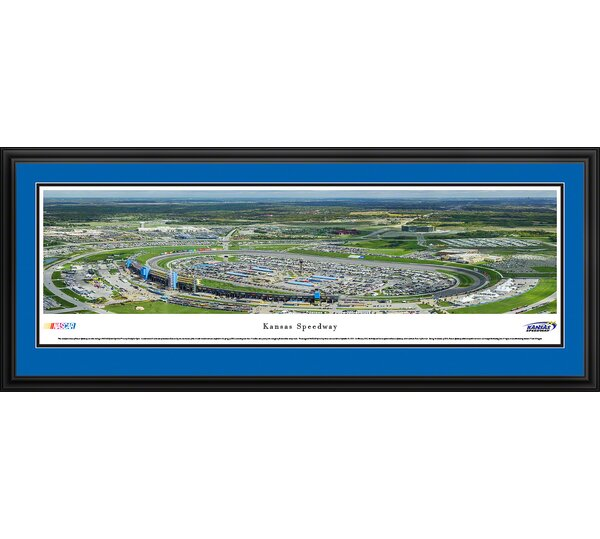NASCAR Kansas Speedway by Christopher Gjevre Framed Photographic Print by Blakeway Worldwide Panoramas, Inc