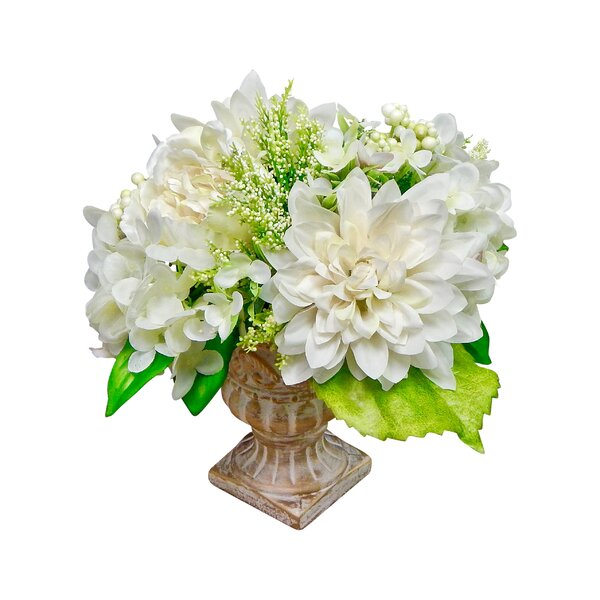 Deluxe Peony and Hydrangea Centerpiece in Urn by Ophelia & Co.