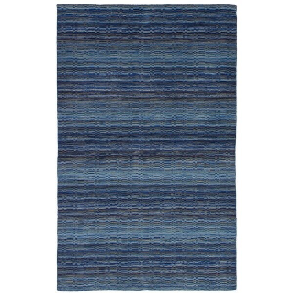 One-of-a-Kind Groom Hand-Knotted Wool Blue Area Rug by Isabelline