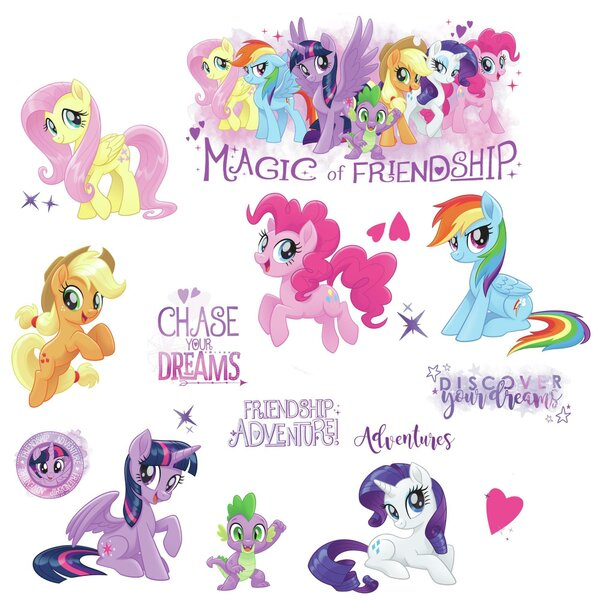 My Little Pony The Movie Peel and Stick Wall Decal by Room Mates