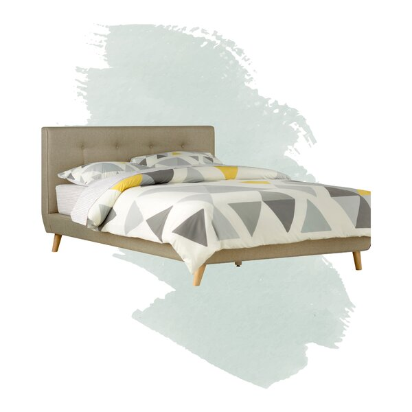 Alanna Upholstered Platform Bed by Foundstone