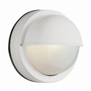Bulkhead light outdoor wall lighting youll love wayfair foley 1 light outdoor bulkhead light aloadofball
